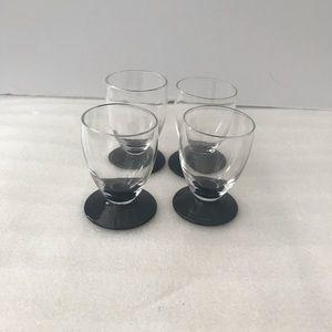(4) Vintage shot glasses